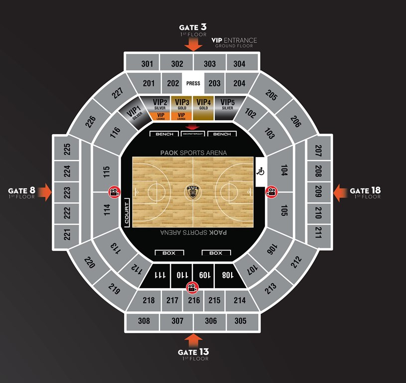 PAOK SPORTS ARENA map